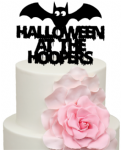 Halloween at Personalised Surname Bat Cake Acrylic Topper